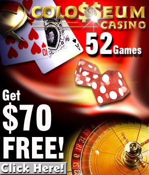 Get $70 free at Colosseum Casino!